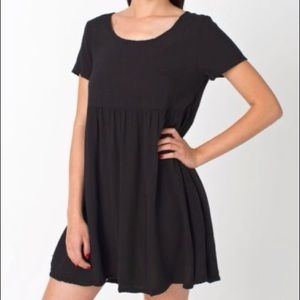 American apparel babydoll dress in black